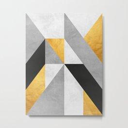 Gold Composition III Metal Print