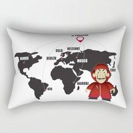 La casa de Papel Money Heist Map Rectangular Pillow