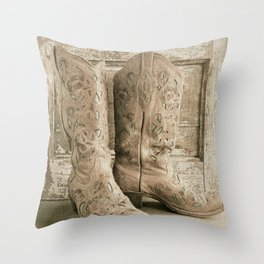 Cowgirl Chic Throw Pillow