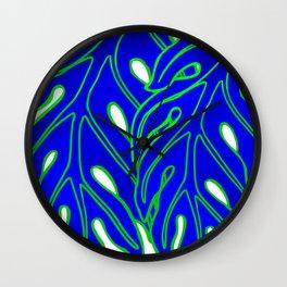 Blue Lau Ulu Wall Clock