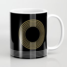 GUITAR IN ABSTRACT (geometric art deco) Coffee Mug
