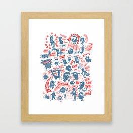 Merry Monsters Framed Art Print