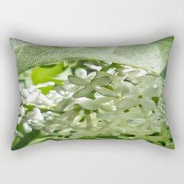 White Lilacs Rectangular Pillow