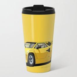 Lamborghini Countach 5000QV Oro Sahara (US spec) Travel Mug