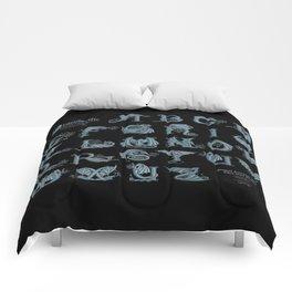 Dracoserific, a font full of Dragons (dark) Comforters