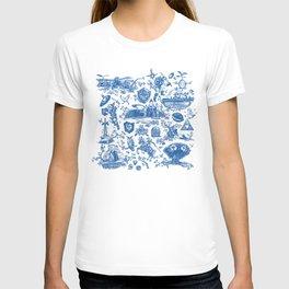 """Zelda """"Hero of Time"""" Toile Pattern - Zora's Sapphire T-shirt"""