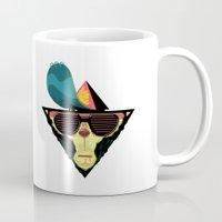 ape Mugs featuring Ape by Mikhail Kalinin