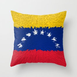 Extruded flag of Venezuela Throw Pillow