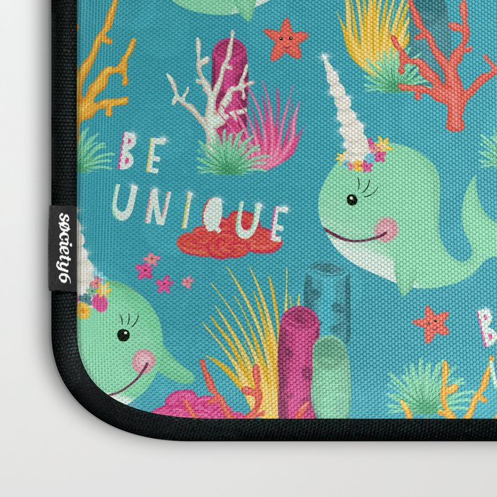 Narwhal Be Unique Pattern Laptop Sleeve