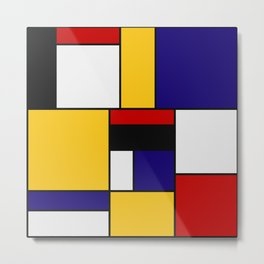 Mondrian De Stijl Art Movement Metal Print