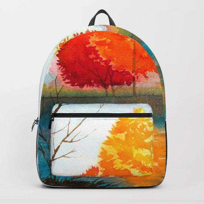 Autumn scenery #7 Backpack
