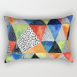 Doodled Geometry Rectangular Pillow