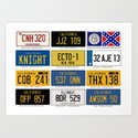 Famous Number Plates by moviereplicars