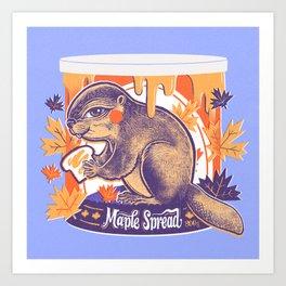 Beaver in a can Art Print