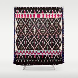 Oriental Heritage Colored Black Berber Moroccan Style Shower Curtain