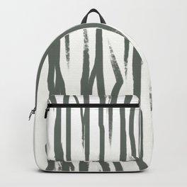 Black and White Abstract Art Print - Brush Stroke Painting - Minimalist Scandinavian Decor Backpack