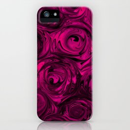 Berry Fuchsia Roses iPhone Case