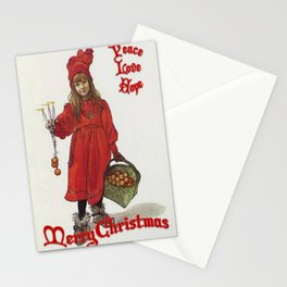 Peace, Love and Hope Merry Christmas Greeting Card Stationery Cards