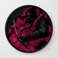 ninja Wall Clocks featuring Ninja by Pigboom Art