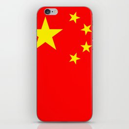 Chinese Flag Sticker & More iPhone Skin