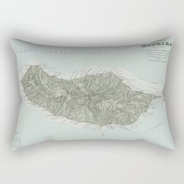 Vintage Madeira Island Map (1904) Rectangular Pillow