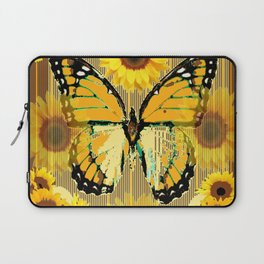 NUT & PUTTY COLORED YELLOW SUNFLOWERS ART Laptop Sleeve