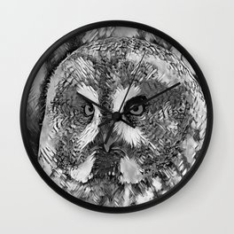AnimalArtBW_Owl_20170601_by_JAMColorsSpecial Wall Clock