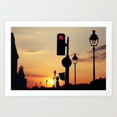 Stop and look at the sunset Art Print