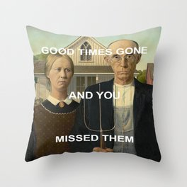 American Gratitude Throw Pillow