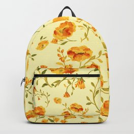 Amber flowers on a delicate yellow color - series A Backpack