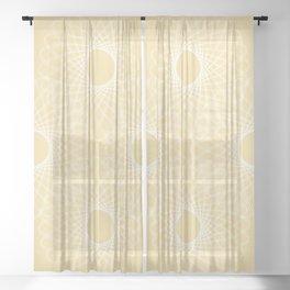 mathematical rotating roses - powder yellow Sheer Curtain