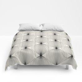Geometric Orb Pattern - Black Comforters