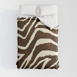 ANIMAL PRINT ZEBRA IN WINTER 2 BROWN AND BEIGE Comforters