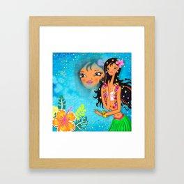 Hula Honey Baby Framed Art Print