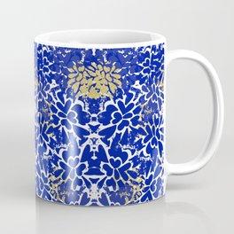 Ink Flower (Blue and Gold) Coffee Mug