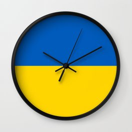 National flag of Ukraine, Authentic version (to scale and color) Wall Clock