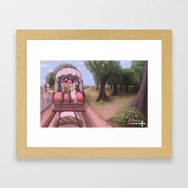 Caracol gitano Framed Art Print