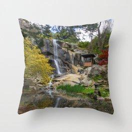 Waterfall at Maymont Park Throw Pillow