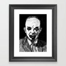 34. Zombie Dwight D. Eisenhower Framed Art Print