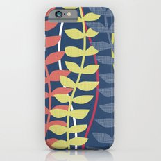 seagrass pattern - blue red yellow iPhone 6s Slim Case