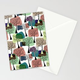 Tree & tree. Stationery Cards