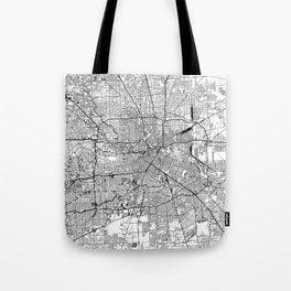 Houston White Map Tote Bag