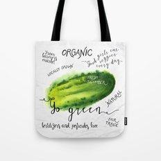 Watercolor cucumber Tote Bag