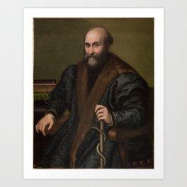 ANGUISSOLA, LUCIA Cremona, 1536 - Cremona, 1565 1557 pietro manna medico de cremona Art Print
