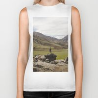 iceland Biker Tanks featuring ICELAND I by Gerard Puigmal