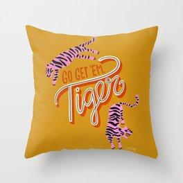 Go Get 'Em Tiger – Yellow Palette Throw Pillow