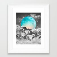 mountains Framed Art Prints featuring It Seemed To Chase the Darkness Away by soaring anchor designs
