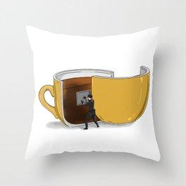 Coffee Confidential Throw Pillow