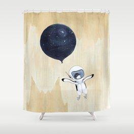 Penguin fly Shower Curtain