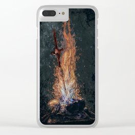 Dark Souls *The Primal Bonfire* Clear iPhone Case